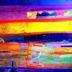 """Currently out at sea (!) so here is Barbara Rae RA's wonderfully vibrant """"Sea Path"""", that captures all those bright colours and glossy textures of the sea. Currently @royalacademyarts Summer Exhibition. (2016). #art #artist #artwork #artlover #historyofart #arthistory #barbararae #royalacademy #feminism #women #womenartists #color #paint #london #summer #light #contemporaryart #modernart"""