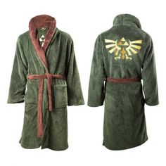 Preorder due to be shipped in August The Official Legend of Zelda bath robe/dressing gown is perfect for chilling out after a hard day's adventuring! The green material isthick and luxurious,with a brown trim and large Triforce logo on the back. Sizing Information If you're under 5'8″ go for size M. If you're 5'9″ or …