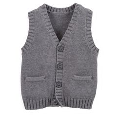 Carter's Baby-boys' Cotton Knit Sweater Vest with Pockets Heather Grey Carters Baby Boy Clothes, Baby Boy Tops, Baby Boy Pajamas, Baby Boy Outfits, Babies Clothes, Babies Stuff, Baby Boy Jumpsuit, Baby Boy Overalls, Baby Boy Sweater