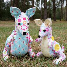 Look who has just hopped over!  Meet Melly and Me's Hop & Skip Kangaroos - this fab sewing pattern is now available in store.
