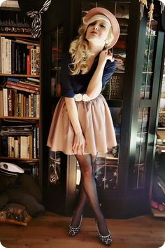 Cute skirts and tights.