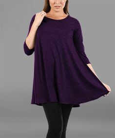Simply Aster Purple Swing Tunic - Plus   zulily