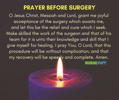 20 Short But Effective Prayers for Surgery – NurseBuff – Page 5 - My Medical Center 2020 Healing Prayer Scriptures, Catholic Prayer For Healing, Prayer Verses, Mom Prayers, Powerful Prayers, Healing Scriptures, Catholic Prayers, Prayer Before Surgery Quotes, Prayers