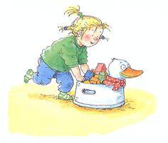 De eend op de pot. Plaatjes en tekst