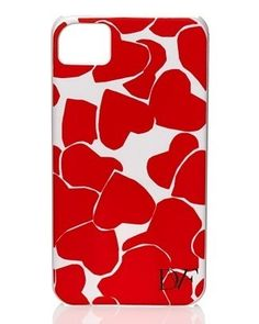 Cover iPhone Diane Von Furstenberg, cuori rossi