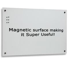 Magnetic 450x600mm White glass board