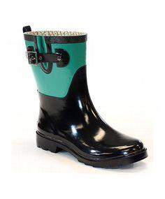 9f02a0fbc COLOR BLOCK MID RAIN BOOT - JUNGLE GREEN Garden Boots