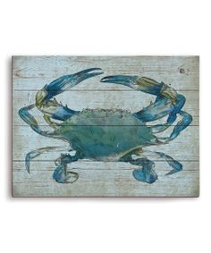 Blue Crab Wall Art | zulily