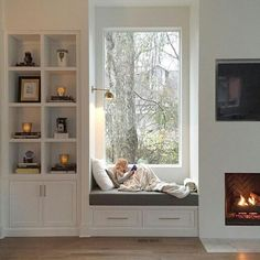 #cosy #fireplace #book #home