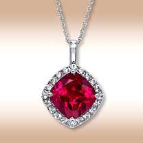Ruby necklace- Eric's birthstone