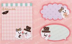 funny ghost biscuit index stickers memo bookmark sticker set book from Japan 2