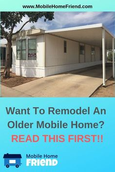 Older manufactured homes are far less expensive to buy than a new mobile home, a. - Older manufactured homes are far less expensive to buy than a new mobile home, and a fraction of th - Mobile Home Renovations, Mobile Home Makeovers, Remodeling Mobile Homes, Home Remodeling, Bathroom Remodeling, Kitchen Makeovers, Bathroom Ideas, New Mobile Homes, Single Wide Mobile Homes