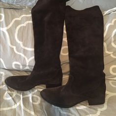 Born Crown over the knee suede boots These dark chocolate brown suede over the knee boots are super comfortable.  They are in great condition, have only been worn a few times. Born Shoes Over the Knee Boots