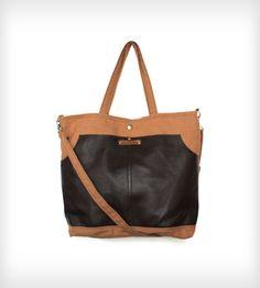 RJ Leather & Canvas Messenger Bag | Women's Bags & Accessories | Ian James New York | Scoutmob Shoppe | Product Detail