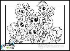 My Little Pony Coloring Pages Friendship Is Magic Home Kids