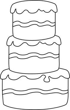 Cake Clip Art Black And White
