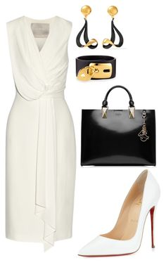 """style theory by Helia"" by heliaamado ❤ liked on Polyvore featuring Jason Wu, Christian Louboutin, Marni, Karl Lagerfeld and Valentino"