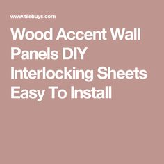Wood Accent Wall Panels DIY Interlocking Sheets Easy To Install Wood Mosaic, Mosaic Glass, Mosaic Tiles, Accent Wall Panels, Wood Planks, Wood Wall, Easy, Design, Mosaic Pieces