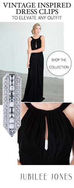 Jubilee Jones has carefully designed our vintage inspired dress clips so they can add sparkle and shine to any look. Elevate any little black dress or clip them to a jacket, belt, or pair of shoes. The sky's the limit! Our clips make especially gorgeous and unique gifts. Made with Czech and Swarovski crystals, each stone is set by hand with great care.