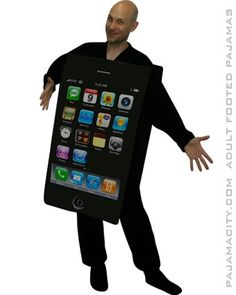 How to make an Easy No-Sew Homemade Adult iPhone Costume for Halloween