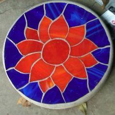 Sunflower Stepping Stone by WillferDesigns on Etsy