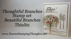 cardmaking video tutorial: Thoughtful Branches metallic embossing and foil die cuts ... great design ...