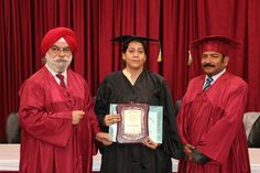 Dr. Dolly Chaudhuri receiving certificate of  Fellowship in Minimal Access Surgery at World Laparoscopy Hospital. For more detail please log on to www.laparoscopyhospital.com