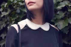 Peter Pan Collar. DIY it: http://honestlywtf.com/diy/diy-peter-pan-collar/