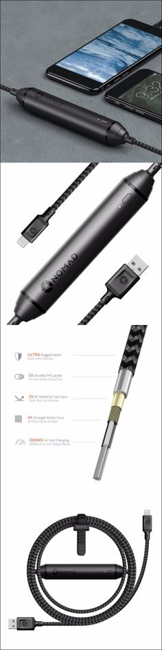 Nomad BATTERY CABLE - A EDC Everyday Carry Battery Pack and Charging Cable in One Sleek, Durable Package