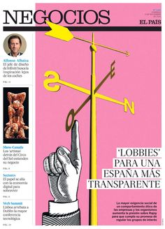 """EL PAÍS - Negocios. """"Lobbies para una España más transparente"""". Artículo: María Fernández. Ilustración: Luis Tinoco www.luistinoco.com"""
