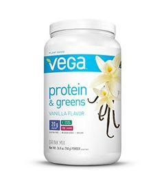 Vega Protein & Greens, Vanilla, Tub, 26.8 oz - http://goodvibeorganics.com/vega-protein-greens-vanilla-tub-26-8-oz/