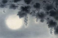 Seiju Omoda 小茂田青樹 (1891-1933), Grape Vines in Moonlight.
