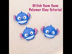 Polymer Clay Tutorial | Stitch Tsum Tsum - YouTube