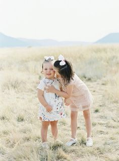 Flower girls that are just too cute! http://www.stylemepretty.com/little-black-book-blog/2017/01/02/rustic-elegant-montana-ranch-wedding/ Photography: Simply Sarah - http://simplysarah.me/