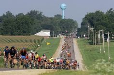 ragbrai. annual 7 day bike ride across iowa- the oldest, largest, & longest bike touring event in the world. includes food trucks (mr. pork chop!), concerts, & other events in the communities in which you ride.