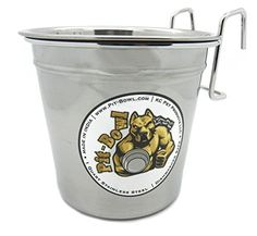 Stainless Steel Hook-on, Dog Crate Water Bowl (1 to 1.5qt) CR82 Pit-Bowl® -- Read more details by clicking on the image.