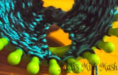 arm warmers made with a round loom.
