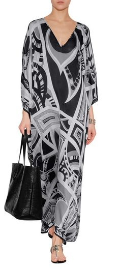 Equal parts eye-catching and dramatic, this billowing silk kaftan from Emilio Pucci is a statement way to wear the house's iconic look #Stylebop