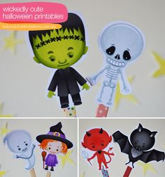 cute printable images good for cupcake toppers Halloween Costumes To Make, Halloween Week, Halloween Gifts, Holidays Halloween, Halloween Decorations, Halloween Ideas, Halloween Stuff, Imprimibles Halloween, Cub Scout Crafts