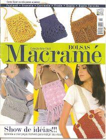 Macramé Bolsas Knot bags pattern magazine Tết dây thành túi xinh rất hay