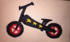 DIY Felt toy bike, Balance bike