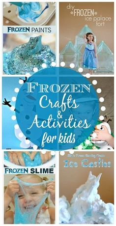 Here's a list of fun Disney Frozen crafts and activities for kids to do! You can find art projects that include Anna, Elsa, Olaf, the trolls, and many more!