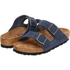 9a7687ba2aa1 Arizona Soft Footbed - Suede (Denim Suede) Slide Shoes Suede Birkenstocks