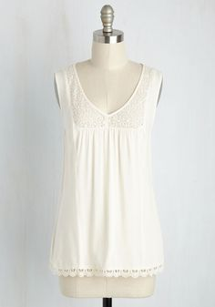 Marketing My Words Top in Ivory. Your creativity may keep the company afloat, but its your fashionable prowess - in this ivory top - that inspires your lingual ambitions! #white #modcloth
