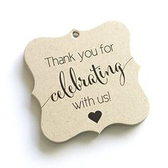 Thank You Favor Tags, Thank You Wedding Tags, Thank you for Celebrating With Us (FS-362-KR)