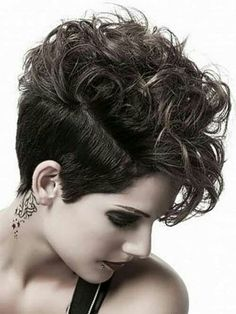 Short back & sides with long beautiful curls on top.