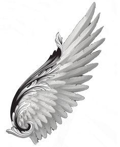 Angel Wings Clip Art, Angel Wings Png, Angel Wings Drawing, Demon Wings, Bird Wings, Angle Wing Tattoos, Wing Tattoo Men, Wing Tattoo Designs, Eagle Tattoos