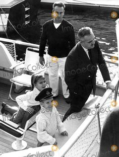 Princess Caroline and Prince Albert on a Yacht Photo by Globe Photos