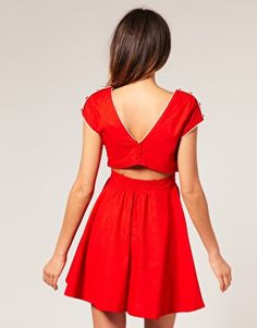 Motel Gemma Cut Out Waist Contrast Trim Dress. $74.40. As a note, I've seen this dress go out of stock on both ModCloth and NeedSupply. Such a cute dress, and I'd still love to have it!