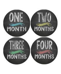 My Lullabug Chalkboard Baby Monthly Growth Sticker Set by  #zulilyfinds